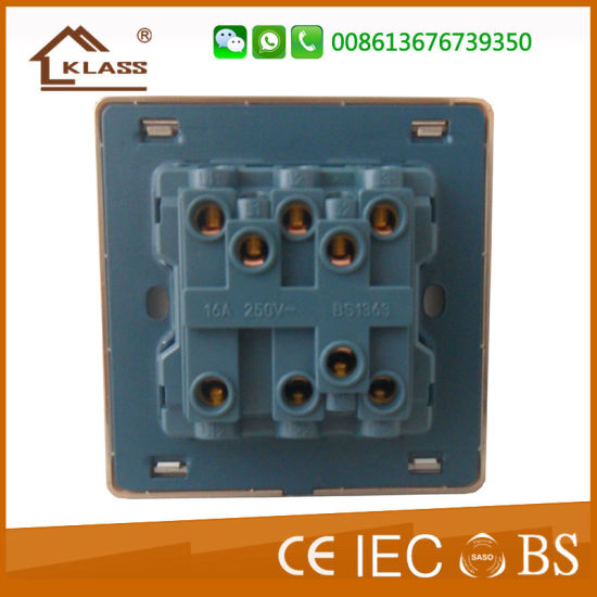 China Manufacture UK Type Copper Connector 3 Gang Switches pictures & photos