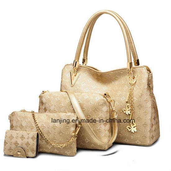 Wholesale Hot Sale Leather Shoulder Bag 4 Piece Set Ladies Bags Handbag 81e2d73ba6396