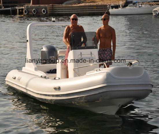 Liya 5.8m Luxury Fiberglass Rib Boat FRP Fishing Boat