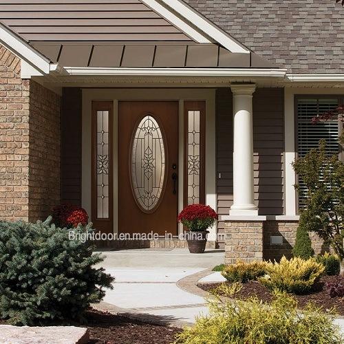 Customized Size Entry Good Waterproof Wooden Door