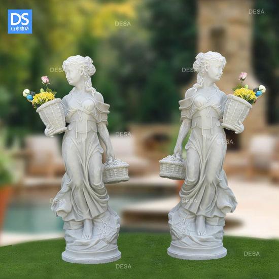 Ancient Greek Figure Sculpture Garden, Flower Garden Statues
