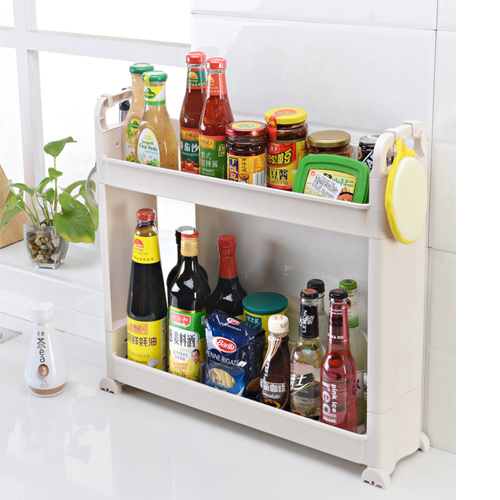Plastic Kitchen Rack, Plastic Storage Bathroom Shelf Kitchen Sundries Storage Hc-1602 pictures & photos