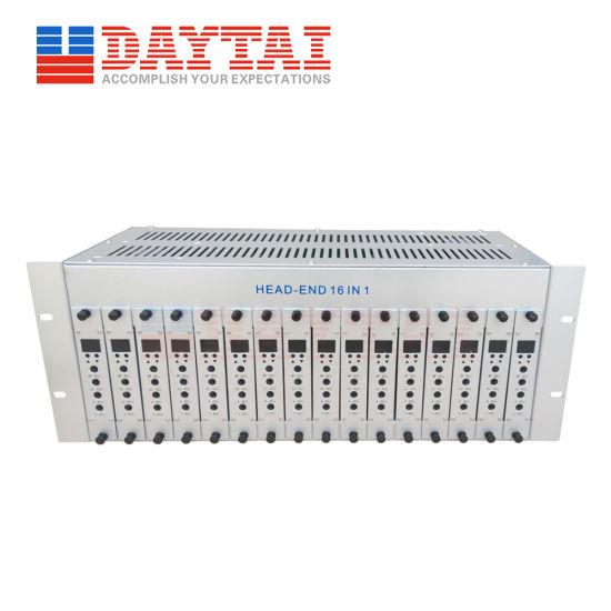 CATV Headend Equipment Analog TV 16 Way Agile Adjacent Modulator