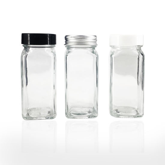 Square Shaped Kitchen Storage Jar Set for Spice Shaker for Home and Kitchen Use