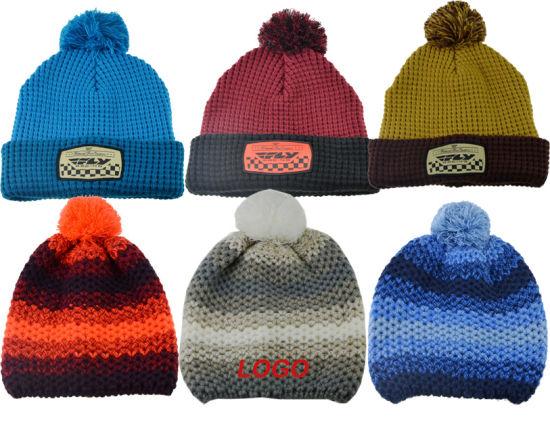 BSCI Customized Unisex Knitted Beanie Hat POM POM Hat Hy19101506