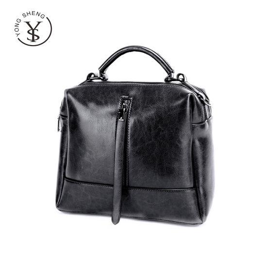 Popular Cowhide Leather Ladies Tote Bags Crossbody Women Hand Bags