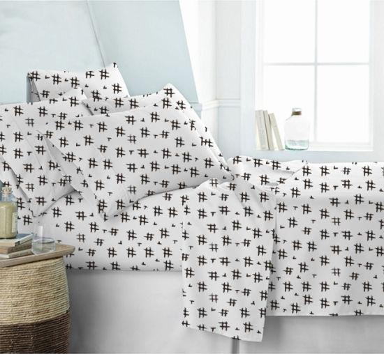 Made in China Wholesale Printed 4 PCS Duvet Cover Bedsheet Bedspread Comforter Bedding Set