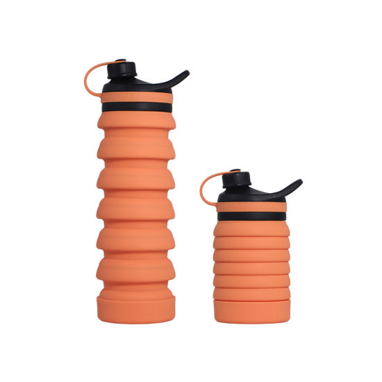 Hot Protective Soft Silicone Outdoor Folding Kettle Collapsible Custom Water Bottle
