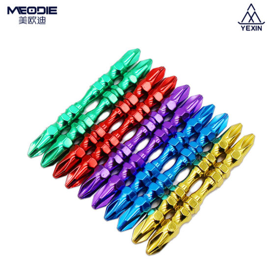 Professional Wholesale Price Taiwan S2 Material Colorful pH2-65 Double End Screwdriver Bits