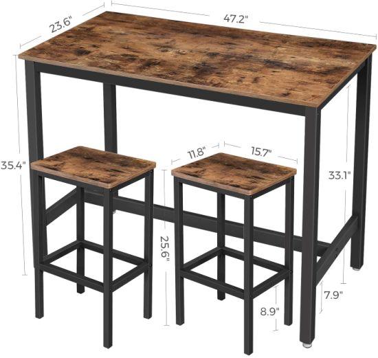China Bar Table Set Bar Table With 2 Bar Stools Breakfast Bar Table And Stool Set Kitchen Counter With Bar Chairs Wholesale China Bar Table Set Bar Table And Stools