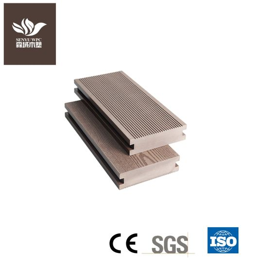 Solid WPC Decking Wood Plastic Composite Board for Outdoor