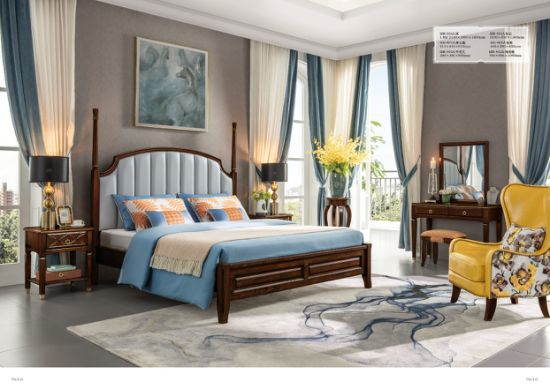 China Fashion American Style Wooden Luxury Home Bedroom Furniture China Home Furniture Export Furniture