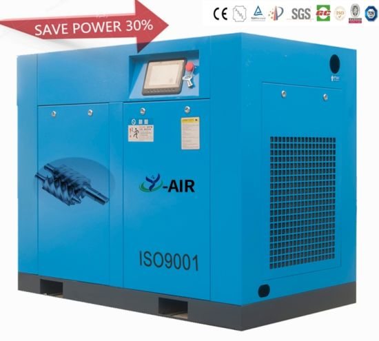 30kw-75kw 40HP-100HP 8bar 10bar 12bar Two-Stage 30-40% Energy-Saving Coupling Driven Standard/Vf Rotary Screw Air Compressors