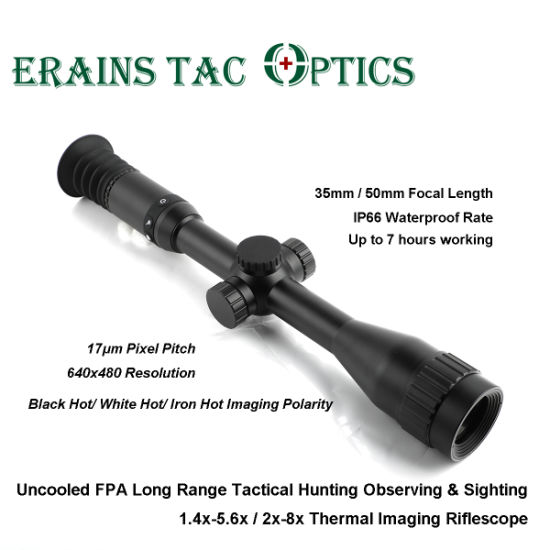 Beating Pulsar Thermion2 XP50 Model Uncooled Fpa Long Range 640X480 Pixel Tactical Hunting Observing 1.4X-5.6X / 2X-8X Thermal Imaging Weapon Sight Rifle Scope