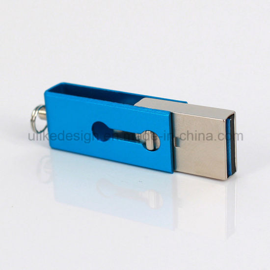 3.0 Metal Mini DIY OTG USB Flash Disk High Quanlity Classic Packing (3.0 OTG-104) pictures & photos