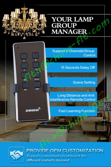 Rolling Code RF Remote Switch with Timer Control for Plant Growth pictures & photos