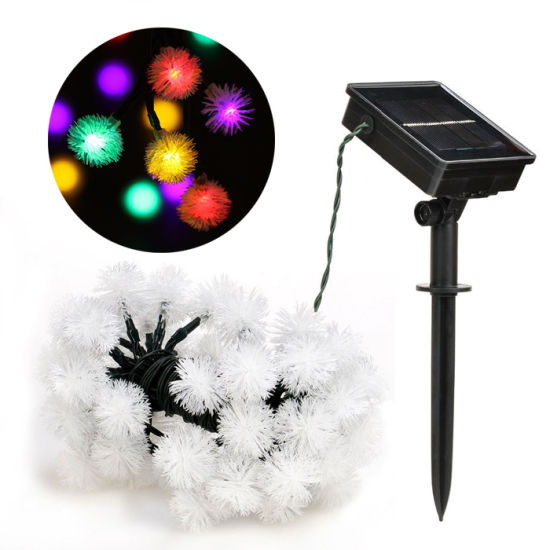 50 LED Chuzzle Ball Christmas Solar String Light Outdoor Waterproof Decorative Lights for Festival Holiday Party pictures & photos