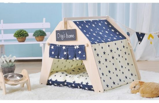 Durable Canvas Fabric Foldable Water Proof Dog Bed Tent pictures & photos