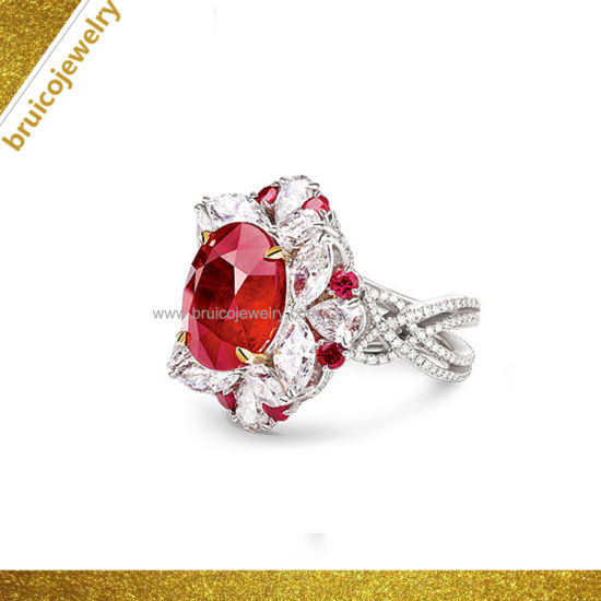 e29228d63f298 Fashion 925 Silver Wedding Ring 9K 14K 18K Gold Jewellery Gemstone Jewelry  for Wedding