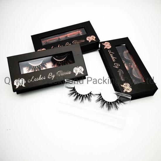 4b0506114f9 Private Label Lashes Box Black Glitter Hexagon False Eyelash Packaging Box