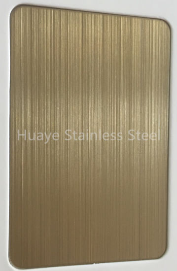 High Quality Gold Colored Stainless Steel Plate Decorative Sheet pictures & photos