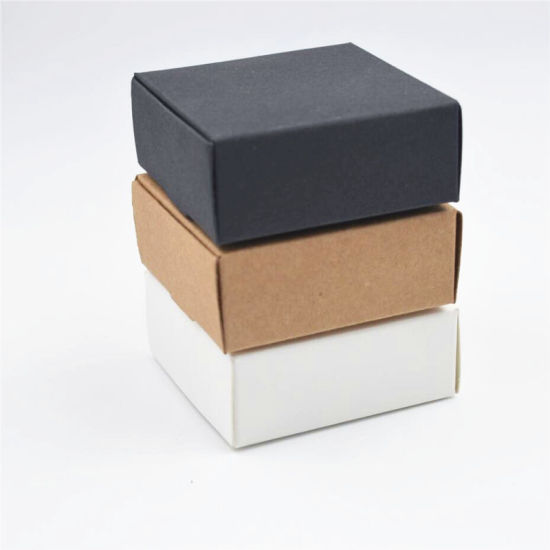 White Craft Kraft Paper Gift Packaging Box pictures & photos