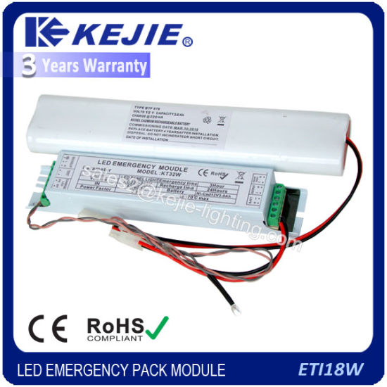Kejie Emergency Power Supply Pack & Emergency Conversion Kit for 18W LED Tube Light