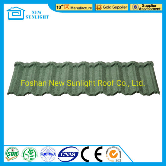 Heat Resistant with Good Price of Sandstone Coated Rainbow Metal Roof Tile  in India
