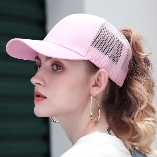 2019 Glitter Ponytail Baseball Cap Women Adjustable Messy Bun Caps Black Hat Girls Casual Cotton Snapback Summer Mesh Hats pictures & photos