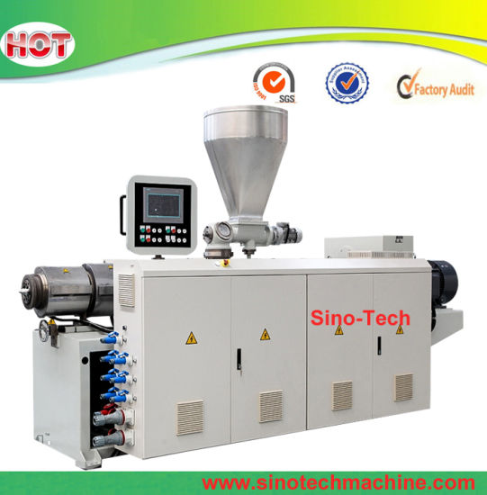 High Capacity PVC Conical Twin Screw Plastic Extruder for Pipe Profile Extrusion Production Machine Line
