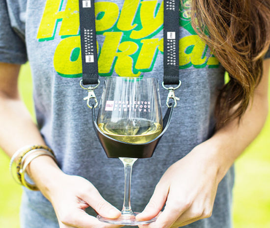 Polyester Wine Glass Holder Lanyard for Party pictures & photos