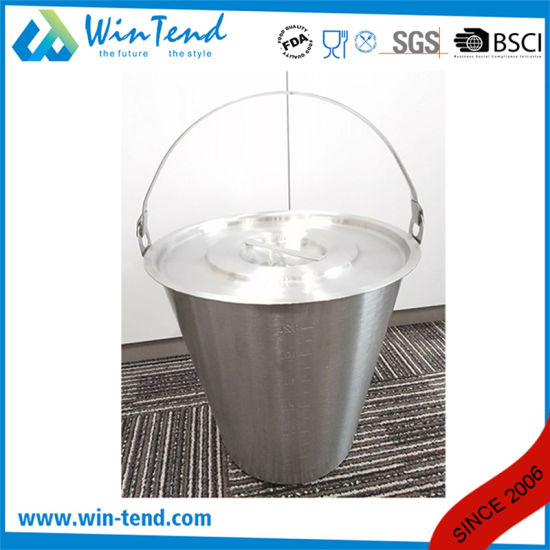Stainless Steel Engraved Inclined Pail pictures & photos