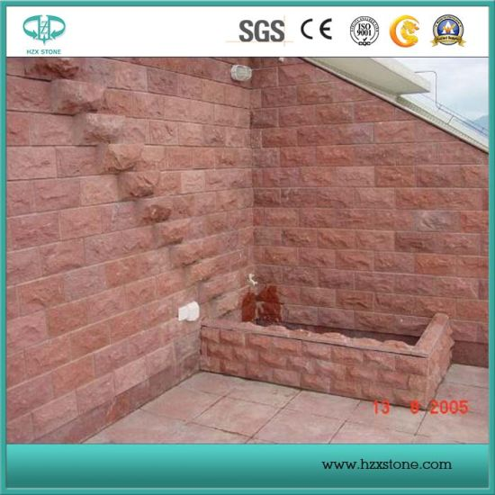 Red Porphyry Stone Tile Slab, Paver, Cobble Stone, Cubestone pictures & photos