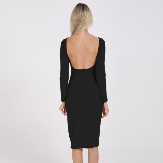2019 Fashion Long-Sleeve Halter Girls' Dress
