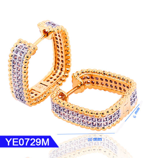 85f4dd4d6 New Model Fashion Jewelry 925 Sterling Silver or Brass 18K Gold Plated Hoop  CZ Earrings for