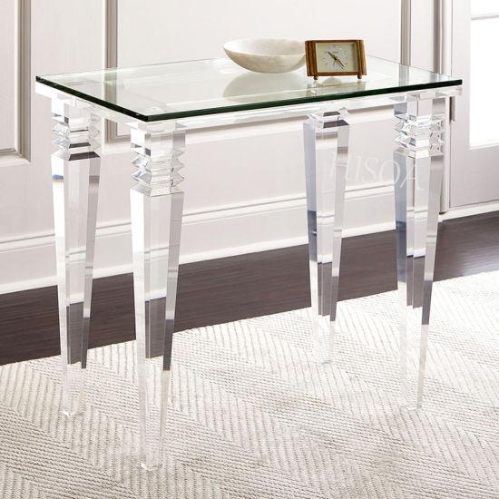 China Acrylic Dining Table Plexiglass Table Acrylic Glass Table
