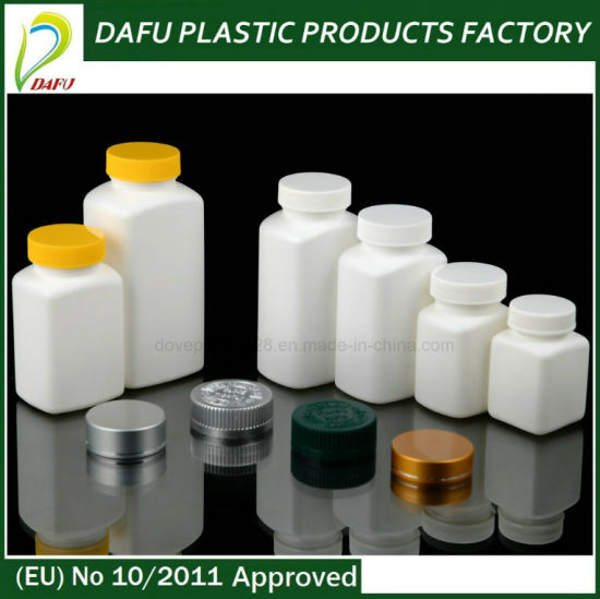 Plastic HDPE Capsule Tablet Plastic Health Bottle with Plastic Cap