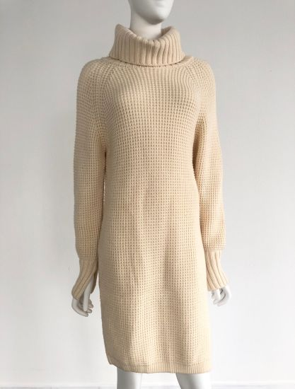Turtle-Neck Pullover Knitting Sweater