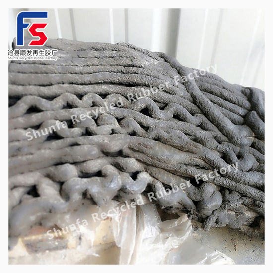 Environmental Friendly Odorless Fine Regenerated Rubber for Inner Tube Black Rubber