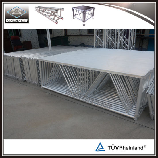 Outdoor Aluminum Movable Mobile Wooden Stage Portable pictures & photos