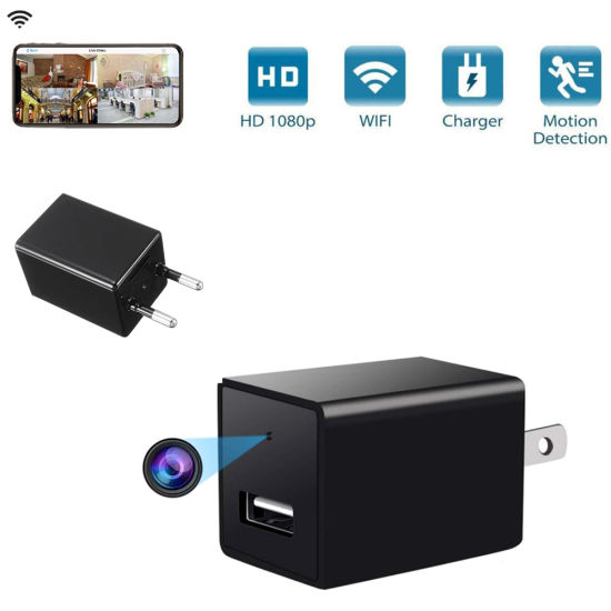 Hot WiFi Full HD 1080P USB Wall Charger Mini IP Motion Camera Home Security