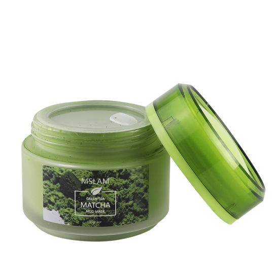 OEM 2019 Natural Organic Ingreidents Acne Treatment Oil Control Deep Pores Cleanser Green Tea Matcha Mud Mask for Face