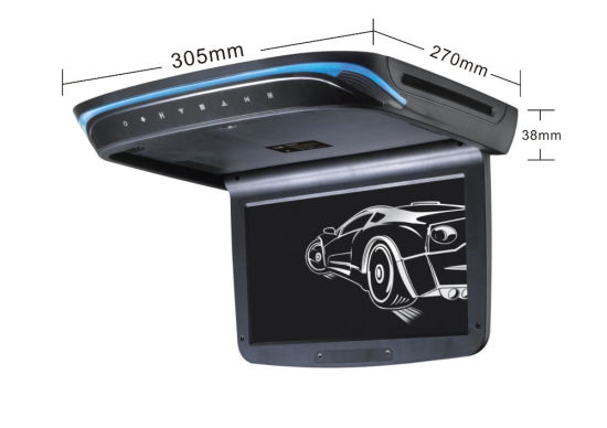 10.2 Inch Bus Roof Ceiling Mounted LED DVD Player Monitor with Built-in IR and FM Transmitter Flip Down Car Monitor