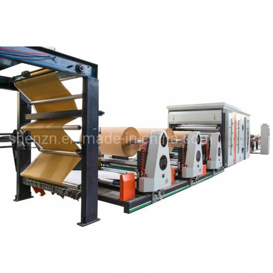 Multiwall Kraft Paper Inner Plastic Film Central Sealing Bag Making Machine with in Line Printer