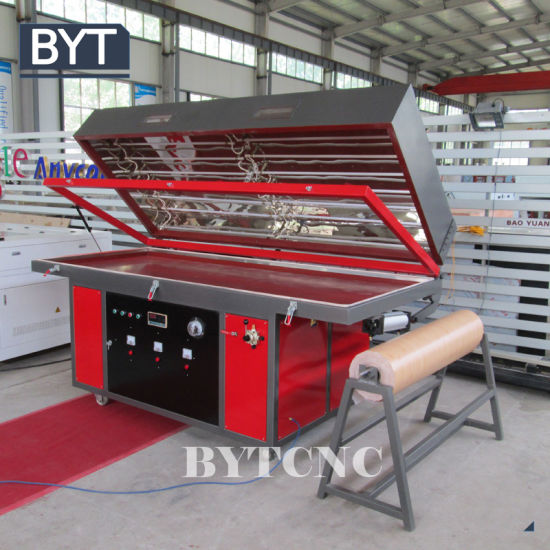 China Pvc Laminate Kitchen Cabinet Door Machine China Mdf Hot