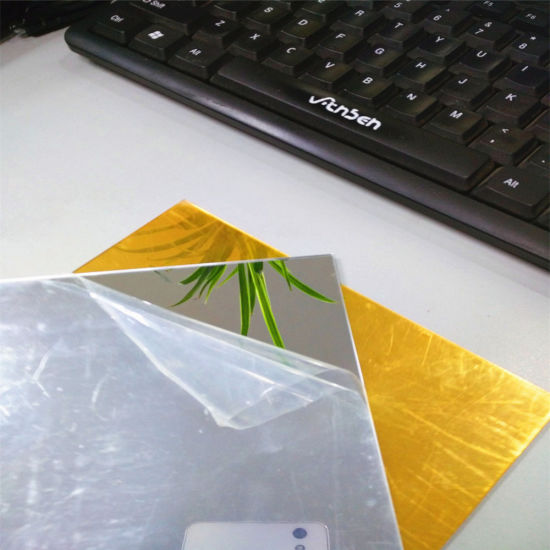 High Quality Golden Mirror Acrylic Sheet pictures & photos