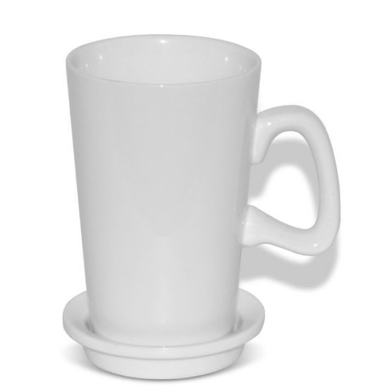 New Ceramic Blank D Shape Handle Tall Cup Coffee Mugs Sublimation Mugs Wholesale pictures & photos