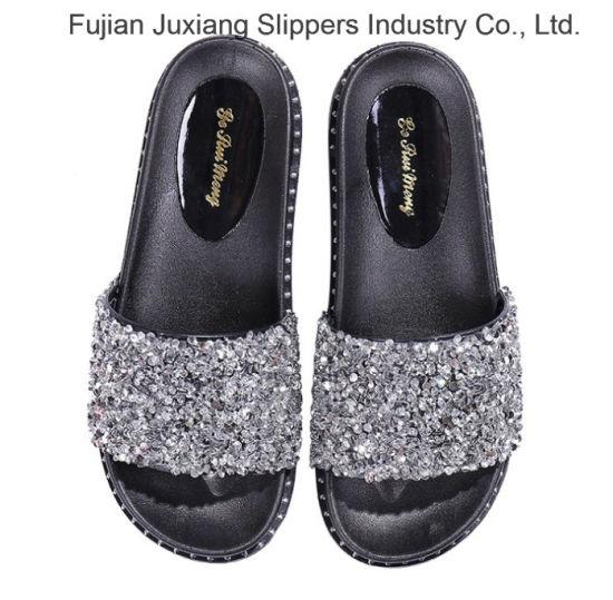 dffde1b8317c China Women′s Flip Flop Sequins Slides Sandals Flat Slip on Shoes ...