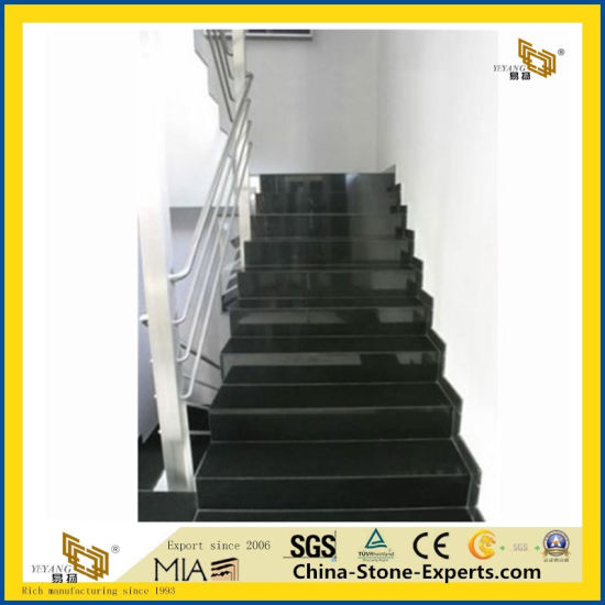 Natural Stone China Black Granite Tile for Stair/ Flooring pictures & photos