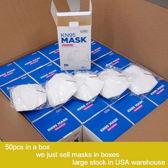 Factory Supplier Non-Woven Earloop Anti Dust Face Mark KN95 5ply Face Mask